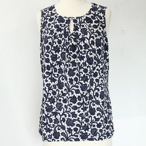 Ann Taylor Tank Top Medium Sleeveless Floral Shirt